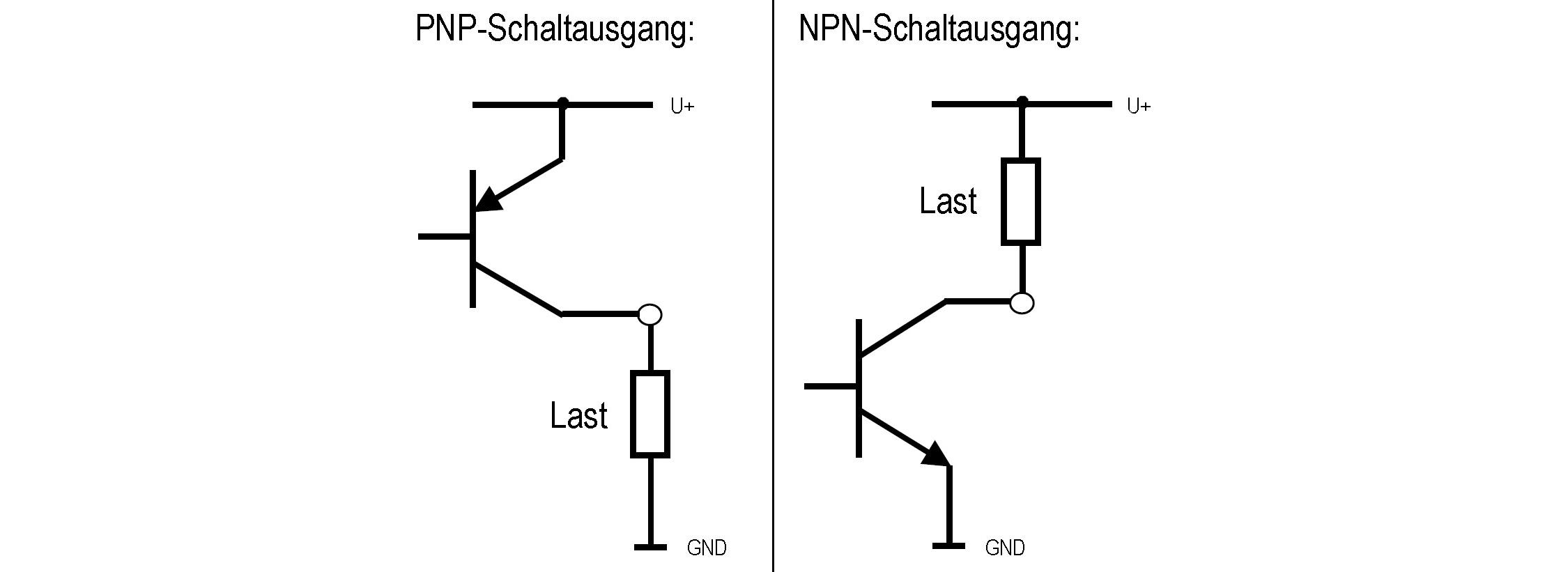 Anschluss PNP- und NPN-Transistorschaltausgang bei Druckschaltern ...