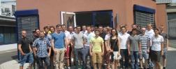 Gruppenfoto Besuch HS Aschaffenburg Studenten