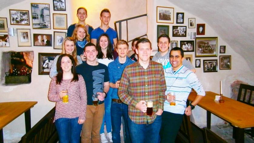 Brauereibesichtigung mit Gaststudent aus USA