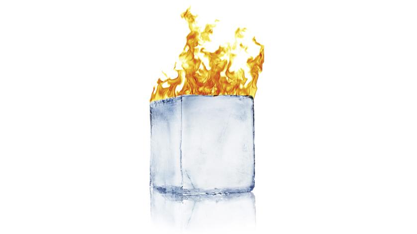 Feuer und Eiswürfel