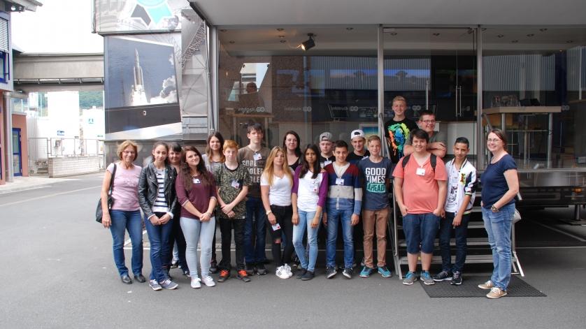 Schulklasse von der Mittelschule Großheubach