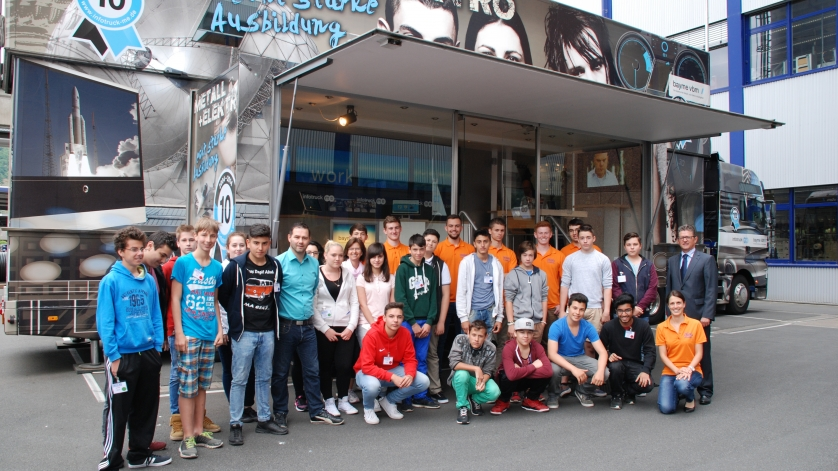 Schulklasse von der Mittelschule Obernburg