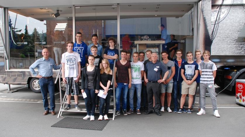 Schulklasse von der Realschule Amorbach