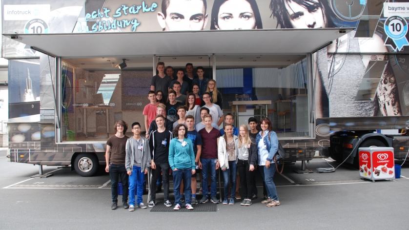 Schulklasse von der Realschule Obernburg