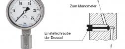 Manometer mit Schemazeichnung