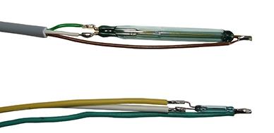 Abbildung: Auswahl von Reed-Kontakten eines Schwimmerschalters