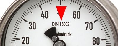 Absolutdruckmanometer 532.52 mit Norm DIN 16002