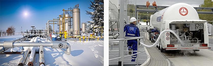 Kalte Umgebung bzw. flüssige Gase