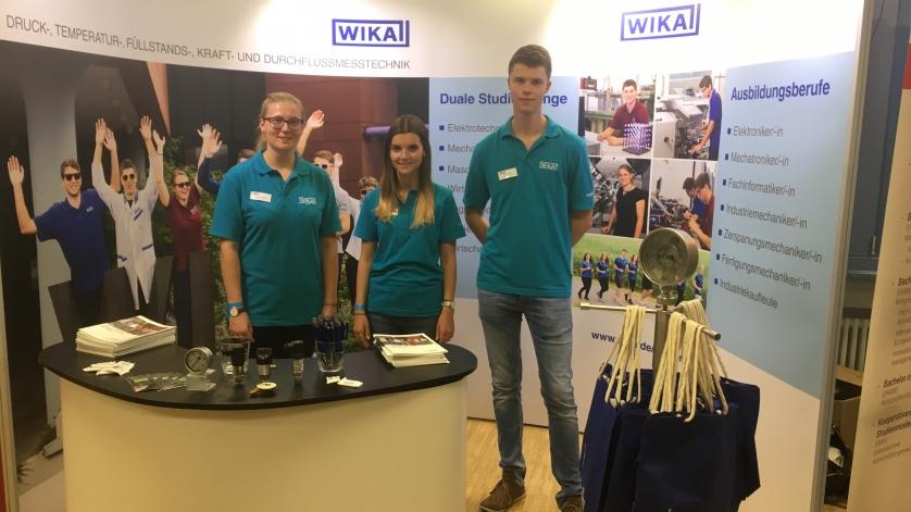 WIKA-Stand am Tag der offenen Tür der DHBW Mosbach