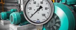 Flüssigkeitsgefüllter Manometer