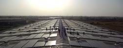 Solarpanels bei Micro Precision